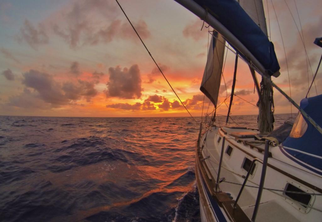 Zachody na otwartym oceanie